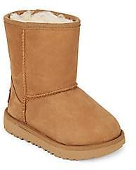 UGG Kid's Classic Short Faux Fur Lined& Leather Boots