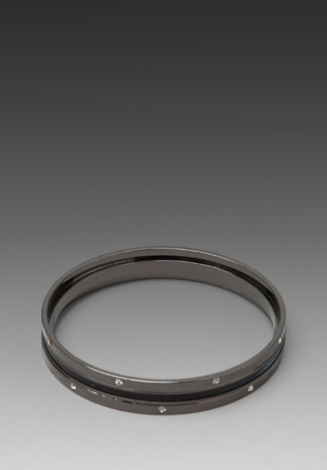 CC Skye Starlight Bangle with Leather Inlay