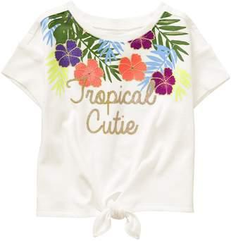 Crazy 8 Crazy8 Toddler Tropical Cutie Tie-Front Tee