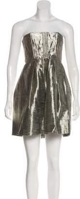 Alice + Olivia Metallic Strapless Mini Dress w/ Tags