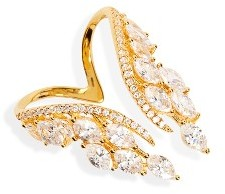Women's Shashi Isabella Crystal Wing Ring $102 thestylecure.com