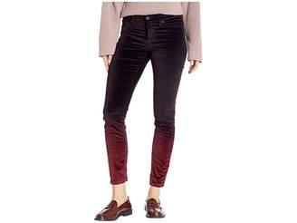 Hudson Nico Mid-Rise Ankle Skinny Jeans in Degrade Burgundy Plum