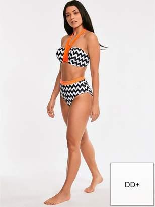 e2f3d8f030353 Figleaves Juno Luxe Underwired Bandeau Halter Bikini Top