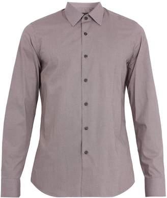 Prada Geometric-print single-cuff cotton shirt