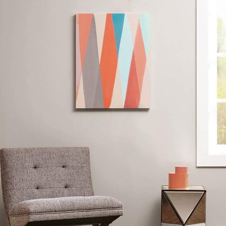 Intelligent Design Textured Geometric Pastel Box Canvas Wall Art