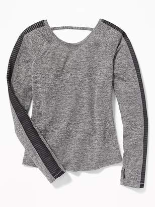 Old Navy Go-Dry Cool Mesh-Trim Strap-Back Top for Girls