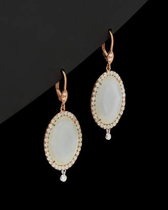 Meira T 14K Rose Gold Plated 21.44 Ct. Tw. Ice & White Diamond & Mother-Of-Pearl Earrings