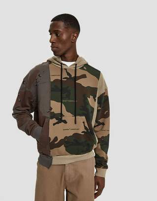 Off-White Off White Reconstructed Camo Hoodie