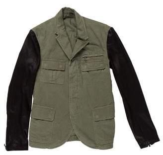 Neil Barrett Leather-Trimmed Field Jacket w/ Tags