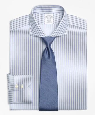 Brooks Brothers Regent Fitted Dress Shirt, Non-Iron Herringbone Alternating Stripe