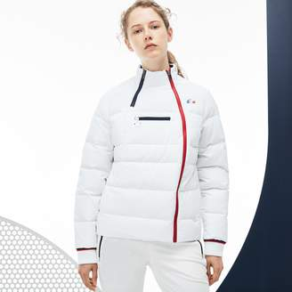 Lacoste Women's French Sporting Spirit Edition Elasticized Panel Quilted Jacket