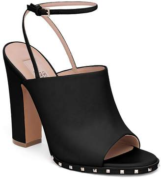 Valentino Women's Soul Rockstud Leather Ankle-Strap Mules