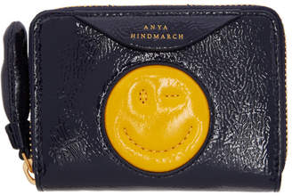 Anya Hindmarch Navy Small Chubby Wink Wallet