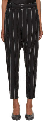 Haider Ackermann Black and White Stripe Kunzite Trousers