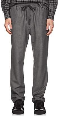 Barena Venezia Men's Mélange Plain-Weave Jogger Trousers