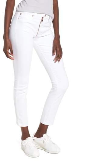 Barbara Exposed Zip High Waist Jeans