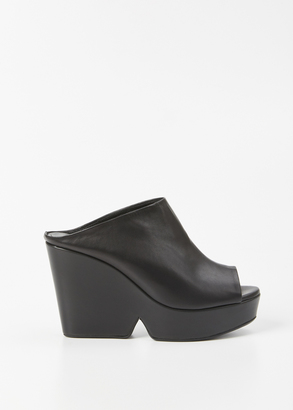 Robert Clergerie black dina wedge $625 thestylecure.com