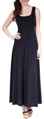 24/7 Comfort Apparel Women's Scoop-Neck Tank Maxi Dress