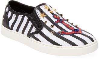Dolce & Gabbana Striped Nautical Leather Sneaker