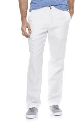 Men's Marc Anthony Slim-Fit Linen-Blend Pants $70 thestylecure.com