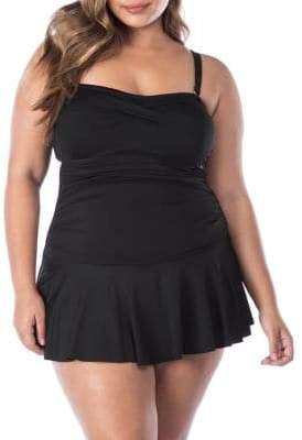 Lauren Ralph Lauren Plus One-Piece Skirted Swimsuit