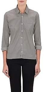 Alexander Olch Women's Stripe Poplin Shirt-Wht.&blk.