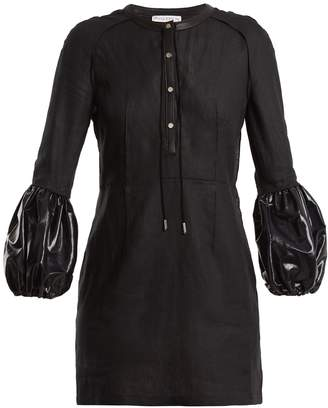J.W.Anderson Puff-sleeved linen mini dress