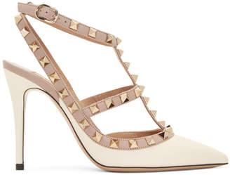 Valentino Off-White Garavani Rockstud Heels