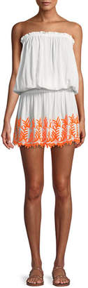 Ramy Brook Marnie Embroidered Strapless Mini Dress