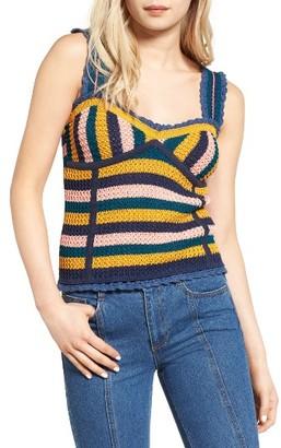 Women's Sjyp Stripe Bustier Knit Top $225 thestylecure.com