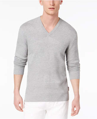 Armani Exchange Men's Texture Blocked V-Neck Sweater