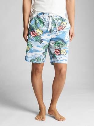 "9"" Drawstring Lounge Shorts in Poplin"