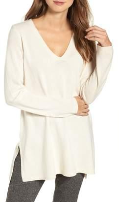 Eileen Fisher V-Neck Cashmere & Wool Tunic (Regular & Petite)