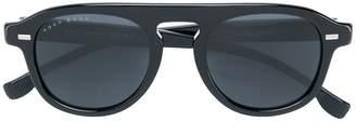 HUGO BOSS round tinted sunglasses