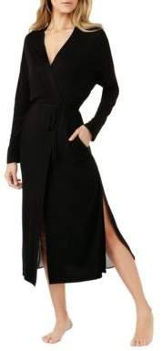 Halston H Long-Sleeve Side Slit Robe