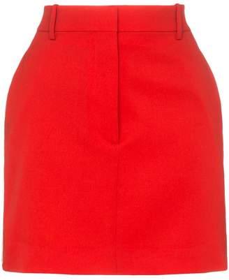 Calvin Klein side stripe wool mini skirt