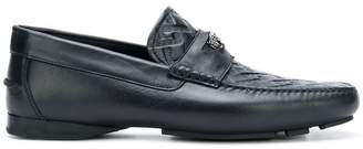 Versace Grecca embossed loafers