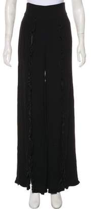 Nicole Miller Ruffled High-Rise Pants w/ Tags