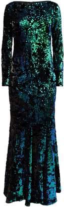 Talbot Runhof Velvet Sequin Gown