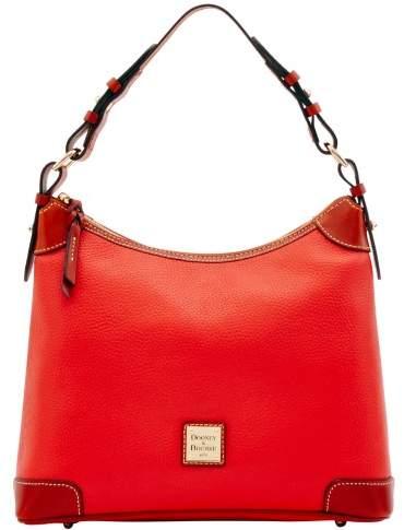 Dooney & Bourke Pebble Grain Hobo Shoulder Bag - SALMON - STYLE
