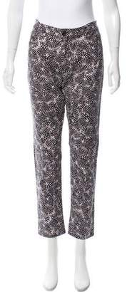 Oscar de la Renta Printed Mid-Rise Jeans