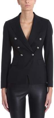 Tagliatore Double-breasted Blazer In Black Wool