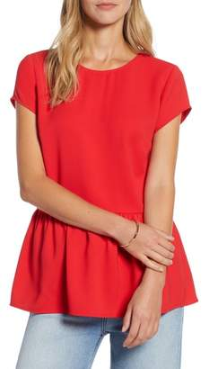 Halogen Peplum Top