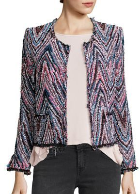 IRO Zigzag Tweed Jacket $620 thestylecure.com