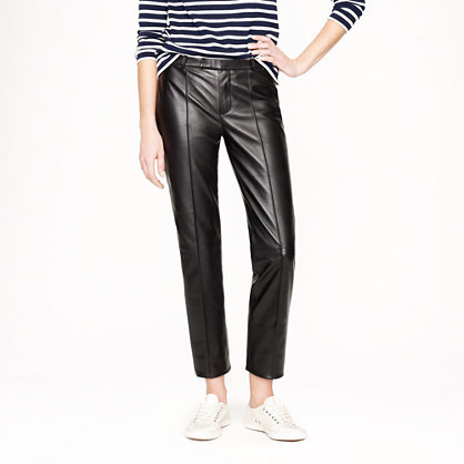 J.Crew Collection Eaton boy trouser in leather