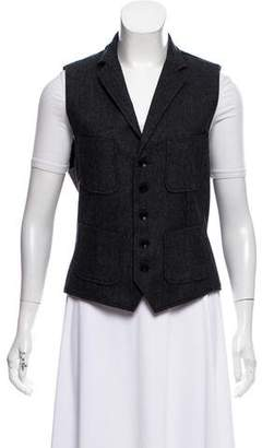 Rag & Bone Herringbone Notch-Lapel Vest