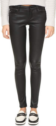 AG Skinny Leather Pants $998 thestylecure.com