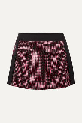 Fendi Karlito Polka-dot Stretch Tennis Skirt - Black