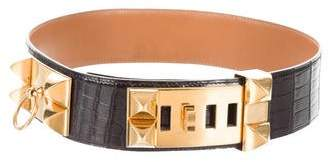 Hermes Vintage Alligator Collier de Chien Waist Belt