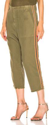 Nili Lotan Luna Pant with Tape in Uniform Green, Orange, Navy Blue | FWRD